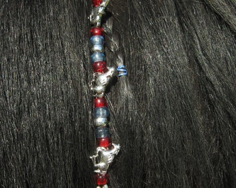 Rhythm Beads Mane Dangle Jewelry Silver Horses Beads and Glass Beads Artisan Original Speed Beads Single Bell Strand