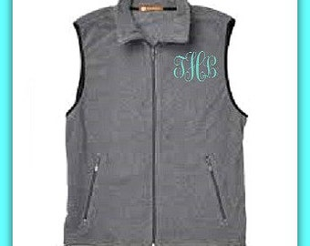 Ladies Monogrammed Vest - Women's Winter Vest - Personalized Vest