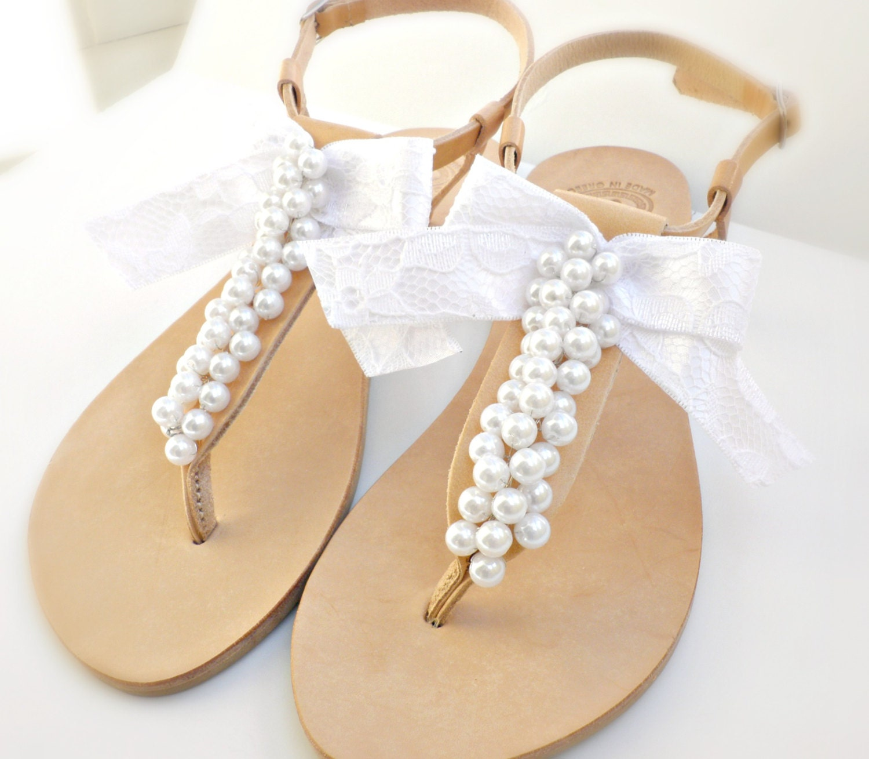Bridal Sandals Greek Leather Sandals-Wedding Sandals