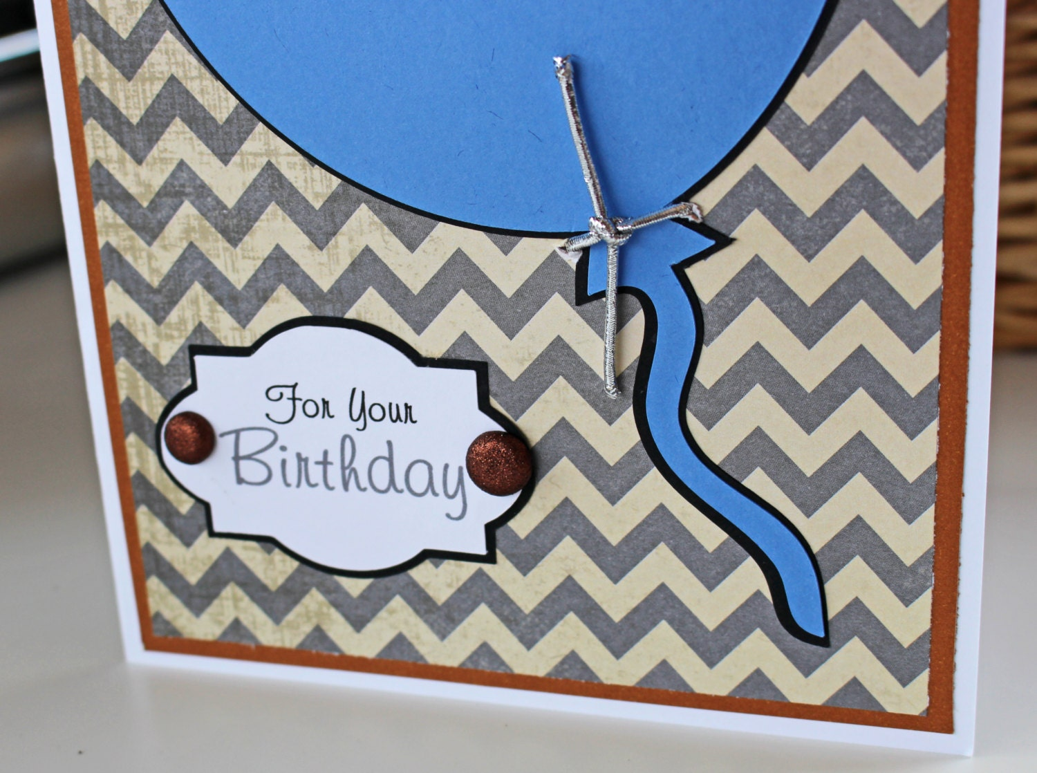 Balloon birthday card for him personalized birthday card blue balloon birthday card for him personalized birthday card blue balloon card chevron mens birthday card male birthday card teen boy card bookmarktalkfo Choice Image