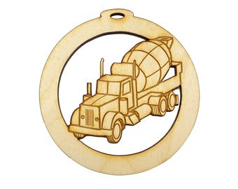 Personalized Cement Truck Ornament - Gift for Cement Truck Driver