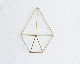 The Sand Dollar Wall Sconce | Brass Air Plant Holder, Modern Minimalist Geometric Ornament