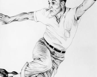 Celebrity portrait - Gene Kelly example