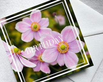 Flower greeting card - birthday