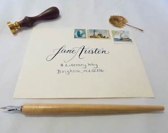 Custom Envelope Calligraphy for Weddings and Special Occasions; Julie Style
