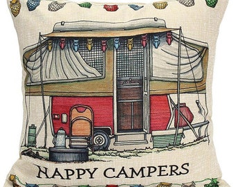 Camper Pillow Cover