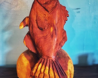 Chainsaw Carved Fish