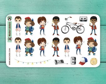 19 Stranger Things Stickers / Planner Stickers / Decorative Stickers