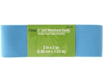 "Dritz 2"" Soft Waistband Elastic  #9591 (Blue)"