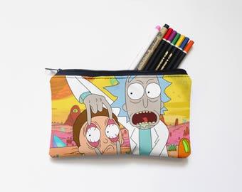 Rick and Morty Zipper Pouch, Pencil Pouch, Pencil Case,