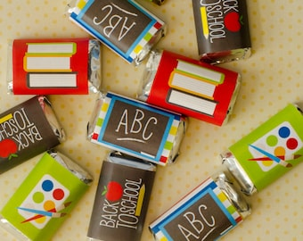 Back To School PRINTABLE Mini Candy Bar Wrappers (INSTANT DOWNLOAD) by Love The Day