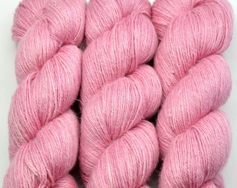 ALPACA-Silk-linen fingering weight, 100g-400 m, pink