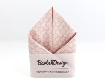 Dusty Pink Pocket Square Floral Pocket Handkerchief Blush Pocket Square for Men Womens Handkerchiefs Pastel Pocket Square Wedding