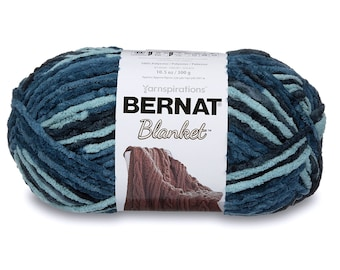 Bernat 16111010736 Blanket Yarn, 10.5 Ounce, Teal Dreams