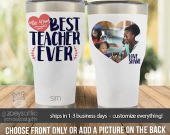 teacher tumbler | teacher stainless steel tumbler | 30 oz. teacher photo tumbler | teacher gift first second grade kindergarten MSCL-023t