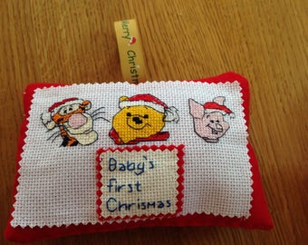 Baby's first Christmas Christmas decoration personalised