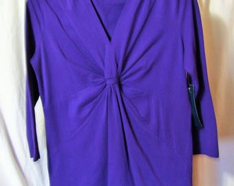 Jones New York, Quality Knit Top, PURPLE, Size Medium, Summer, Cruise Resort Wear, School Clothes