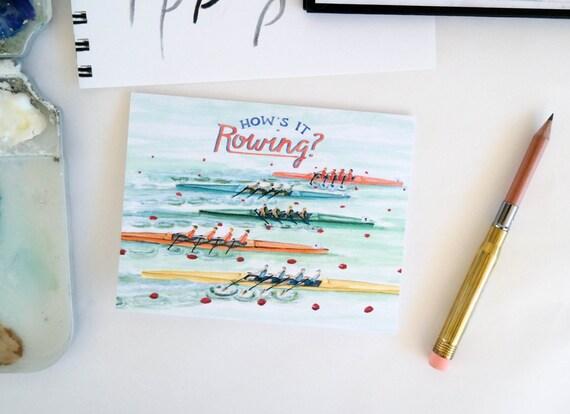Varsity Greeting Card: Rowing