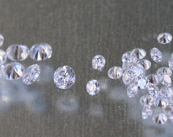 3mm WHITE (clear) CZs - pkg of 20 Perfect for Lampwork Beads, Polymer Clay or PMC