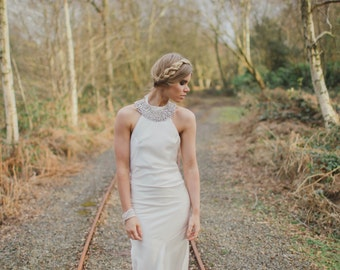 Ember - Bohemian Luxe Silk Charmeuse Wedding Dress