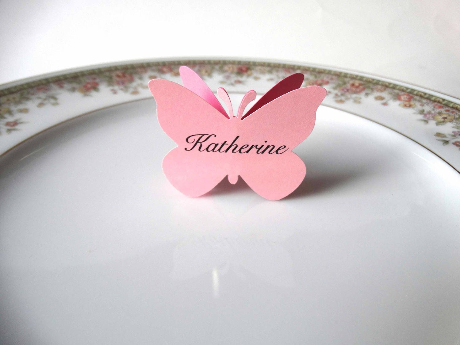 Large Butterfly Place Cards custom name paper butterflies 3D