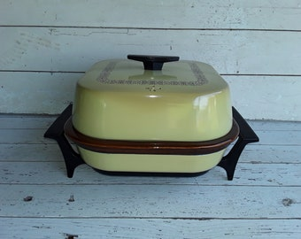 Sunbeam Crocker Frypan Harvest Gold Crocker Insert