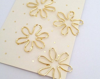 Planner Clips Gold Flower Paper Accessories Page Marker