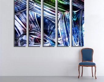 Glossy Huge Wall Art on Aluminum Panels