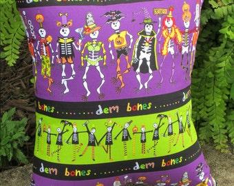 Day of the Dead Pillow, Dia de Muertos Pillow, Halloween Pillow, Cinco De Mayo, Skeleton Pillow, Skeletons in Costumes, Childrens Halloween