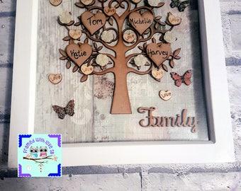 Vintage family tree frame