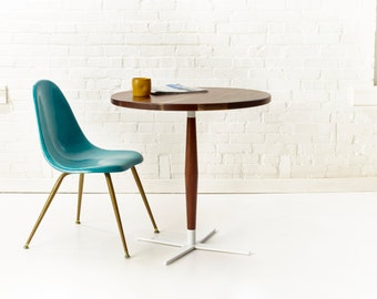 Side Show Bistro Table - Modern Round Pedestal Cafe Table
