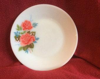 "Pyrex JAJ Cottage Rose Tea Plate 6.5"""
