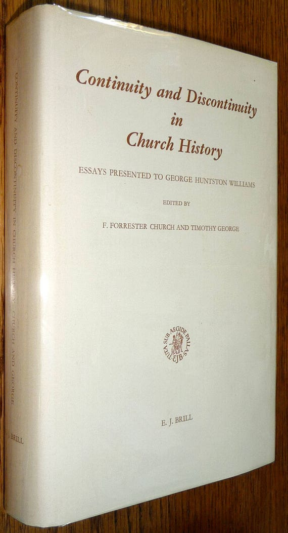 Continuity & Discontinuity in Church History Essays 1979 Hardcover HC Dust Jacket DJ Christianity