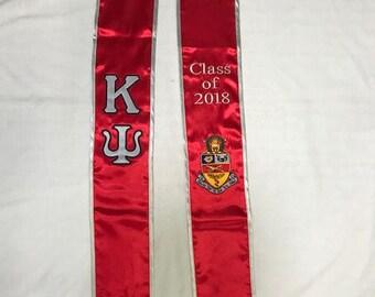 Kappa Psi Class of 2018 Graduation Stole