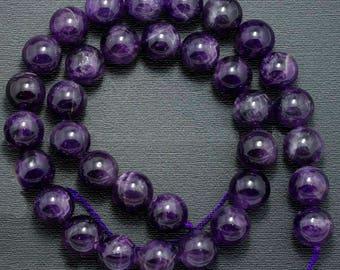 Natural Amethyst Beads, Purple Wholesale Gemstone beads, Stone Beads, Spacer Beads, Round Natural Beads 2mm 3mm 4mm 6mm 8mm 10mm 12 mm