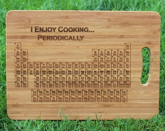 Periodic Table of Elements (I Enjoy Cooking Periodically) Personalised Chopping Board (& Gift Tag) - chemistry science, teacher, Cutting