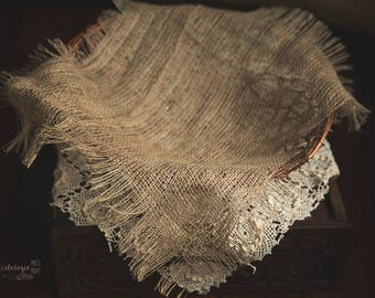 Jute Layer * Basket Layering Piece * Rustic * Natural * Earthy * Newborn Prop  * Photo Prop *