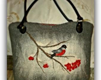 Women handbag-Felt bag-Tote bag-Felted handbag-Wool handbag-Tote purse-Felted bag-Handmade bag for her-Felted wool bag-Special custom design