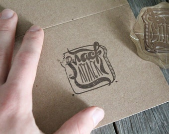 "Custom Logo Stamp ( 1.5"" x 1.5"" )  - Custom Stamp - Customized Stamp - Personalized Rubber Stamp - Stamp Custom - Clear Rubber Stamp"