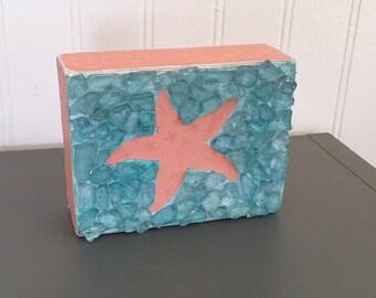 Starfish Ocean Wood Block