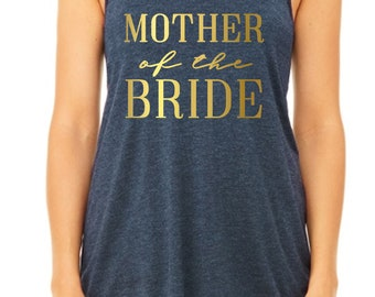 Mother of the Bride (in gold foil) - Wedding Party Tank Top