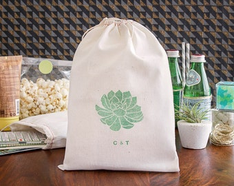 Succulent Welcome Bag - Cactus Wedding Welcome bags - Desert Wedding Welcome Bags - Destination Wedding Favors - Palm Springs Wedding Bags