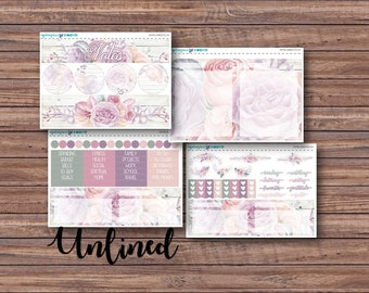 Bloom Notes Page Kit | Erin Condren Planner Stickers | Horizontal & Vertical | Monthly Notes Page