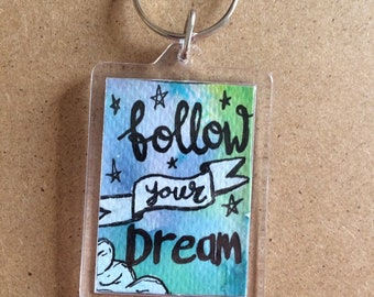 Positive quote keyring