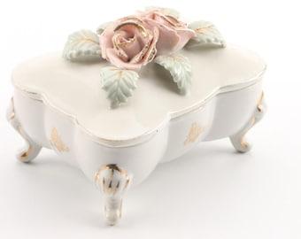 Bond Ware L&M Pink Roses Trinket Box