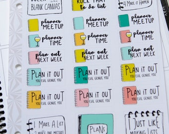 Planner Planning Stickers   Planner Girl Stickers   Planning Time Stickers (#185)