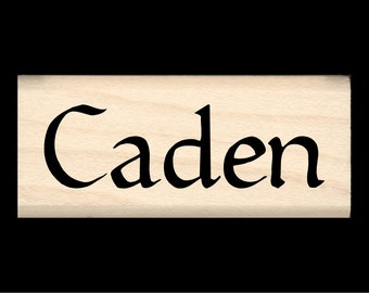 Caden - Name Rubber Stamp for Kids
