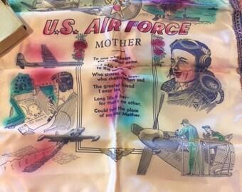 WWII Mother silk pillow sham