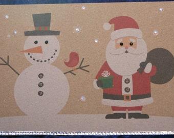 Handmade Christmas pop up card