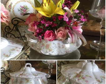 Vintage China Serving Dish for Tea Parties, Bridal Luncheons, Showers, Alice in Wonderland